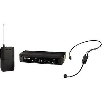 Headset Wireless microphone set Shure BLX14E/P31-T11 HEADSET Transfer type:Radio incl. pop filter