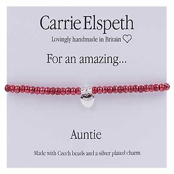 Carrie Elspeth For An Amazing Auntie Sentiment Stretch Bracelet