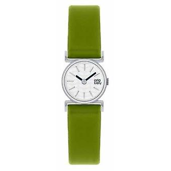 Orla Kiely Cecelia Green Leather Strap White Dial OK2019 Watch