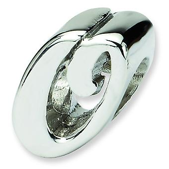 Sterling Silver Reflections Letter O Script Bead Charm