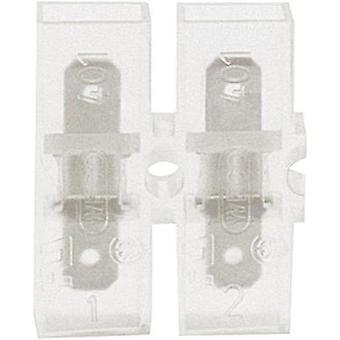 Blade connector Connector width: 4.8 mm Connector thickness: 0.8 mm 180 ° Insulated Transparent Klauke 8052 1 pc(s)