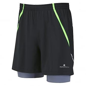 Trail Fuel Twin Short Black/Fluo Green Mens Size XL