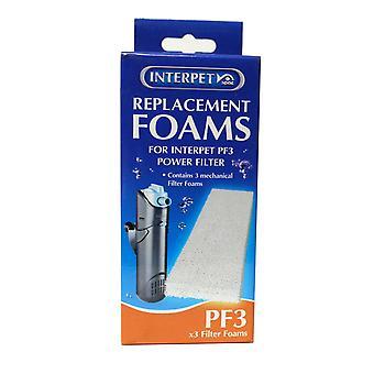 Internal Filter Plain Foam For Pf 3 3pack