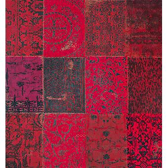 Vintage Red Square Patchwork Rug - Louis De Poortere