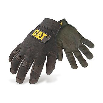 Caterpillar 12212 Mens Lightweight Mechanic Gloves Black Male Workwear