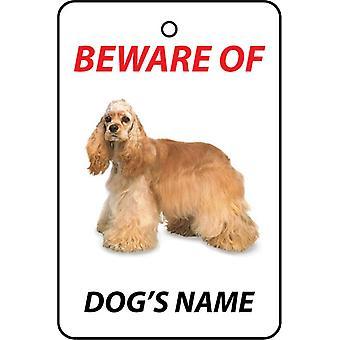 Ambientador de coche personalizado Cocker Spaniel perro