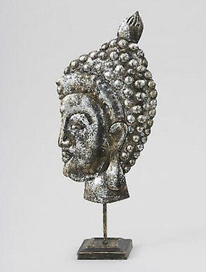 Metal Buddha Head Figurine Ornament Gift Idea