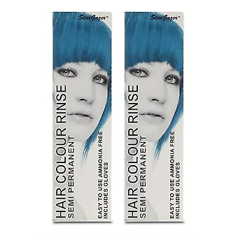 Stargazer Semi-Permanent Hair Colour Dye UV TURQUOISE (2-Pack)