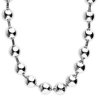 Iced out bling hip hop chain - BALL 12 mm silver