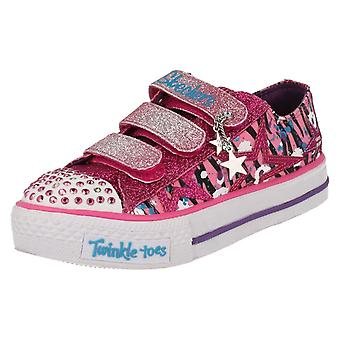 Girls Twinkletoes by Skechers Casual Pumps Glitter n Glitz