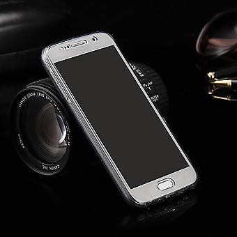 Crystal case cover for Samsung Galaxy S8 gray frame full body