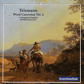 G.P. Telemann - Georg Philipp Telemann, Vol. 4: Vind Concertos [CD] USA import