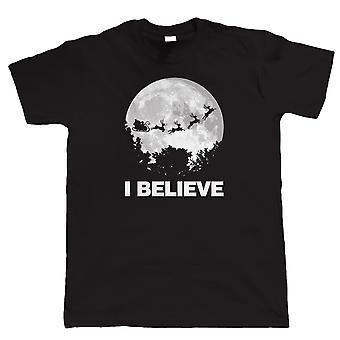 I Believe In Santa, Mens Funny Christmas T-Shirt