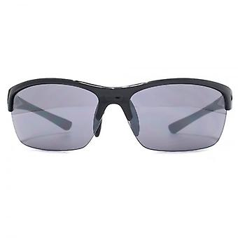 FCUK Semi Rimless Sports Wrap Sunglasses In Shiny Grey