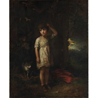 Thomas Gainsborough - A Boy with a Cat Poster Print Giclee
