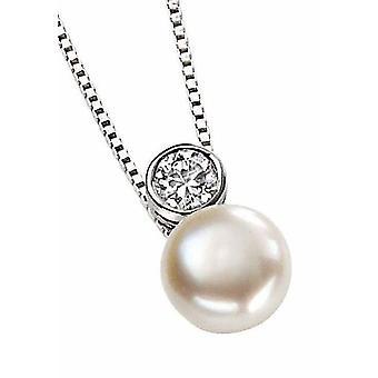 925 srebrny naszyjnik perłowy naszyjnik dla cyrkonu