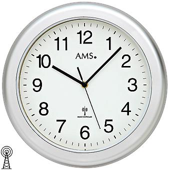 Bathroom clock wall clock wall clock radio silver waterproof bathroom clock
