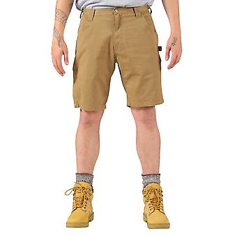 KEY Dungaree Style Work Shorts - Khaki Mens Work Shorts American Workwear