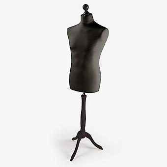 Male Tailors Dummy - Black With Black Stand