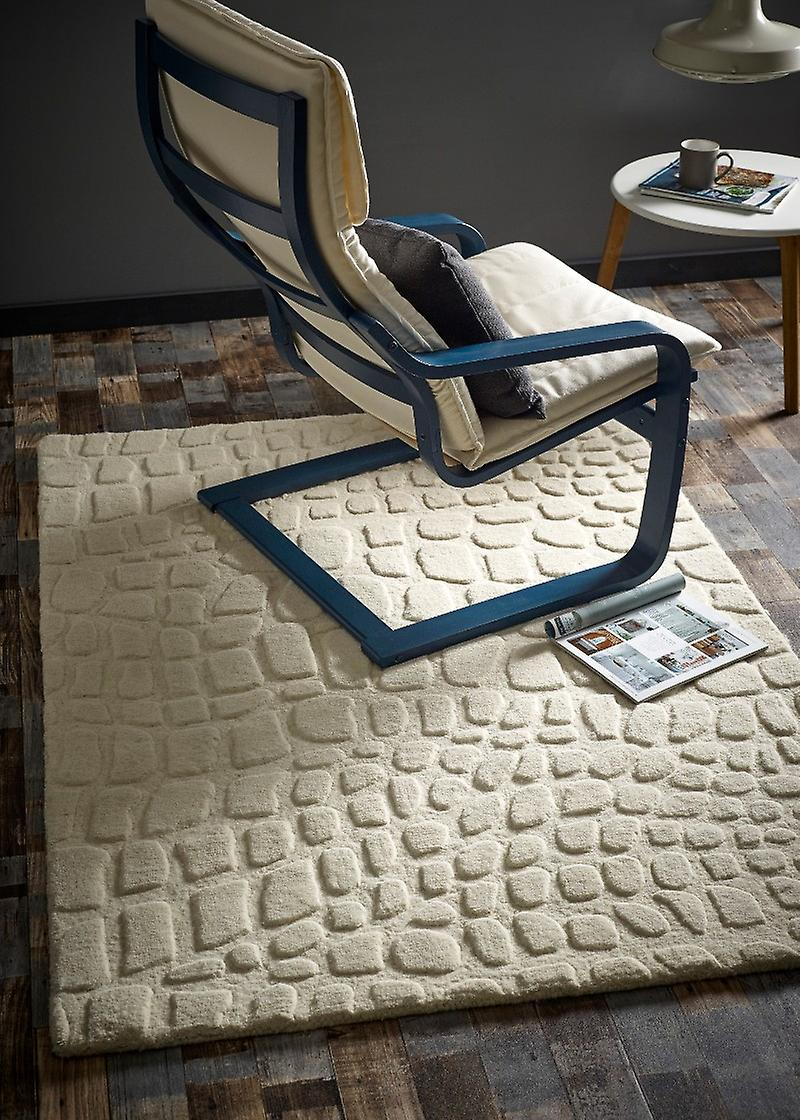 Tapis billes d'Ivoire Rectangle tapis Plain presque ordinaire