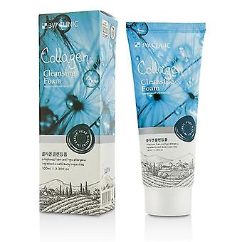 3w Clinic Cleansing Foam - Collagen - 100ml/3.38oz