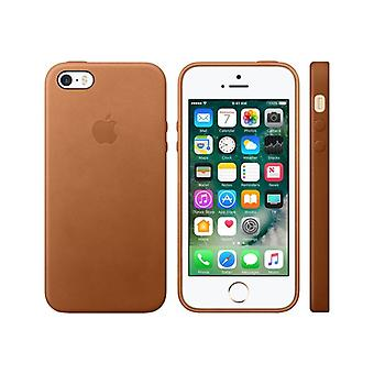 Apple cell phone Cover-leather-saddle Brown-for iPhone 5, 5s, SEE