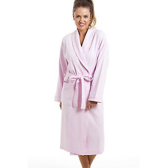 Camille Luxury Light Pink 100% Cotton Waffle Bathrobe