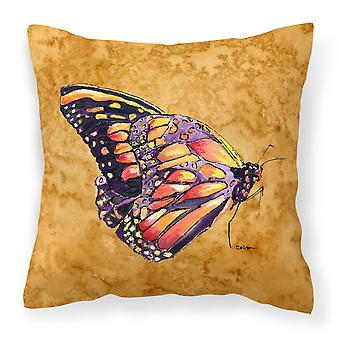 Carolines Treasures  8858PW1818 Butterfly on Gold   Canvas Fabric Decorative Pil