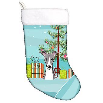 Christmas Tree and Italian Greyhound Christmas Stocking