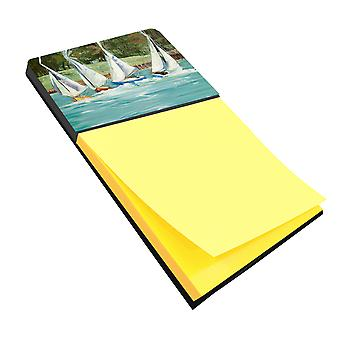 Carolines Treasures  JMK1035SN Sailboats on the bay Sticky Note Holder