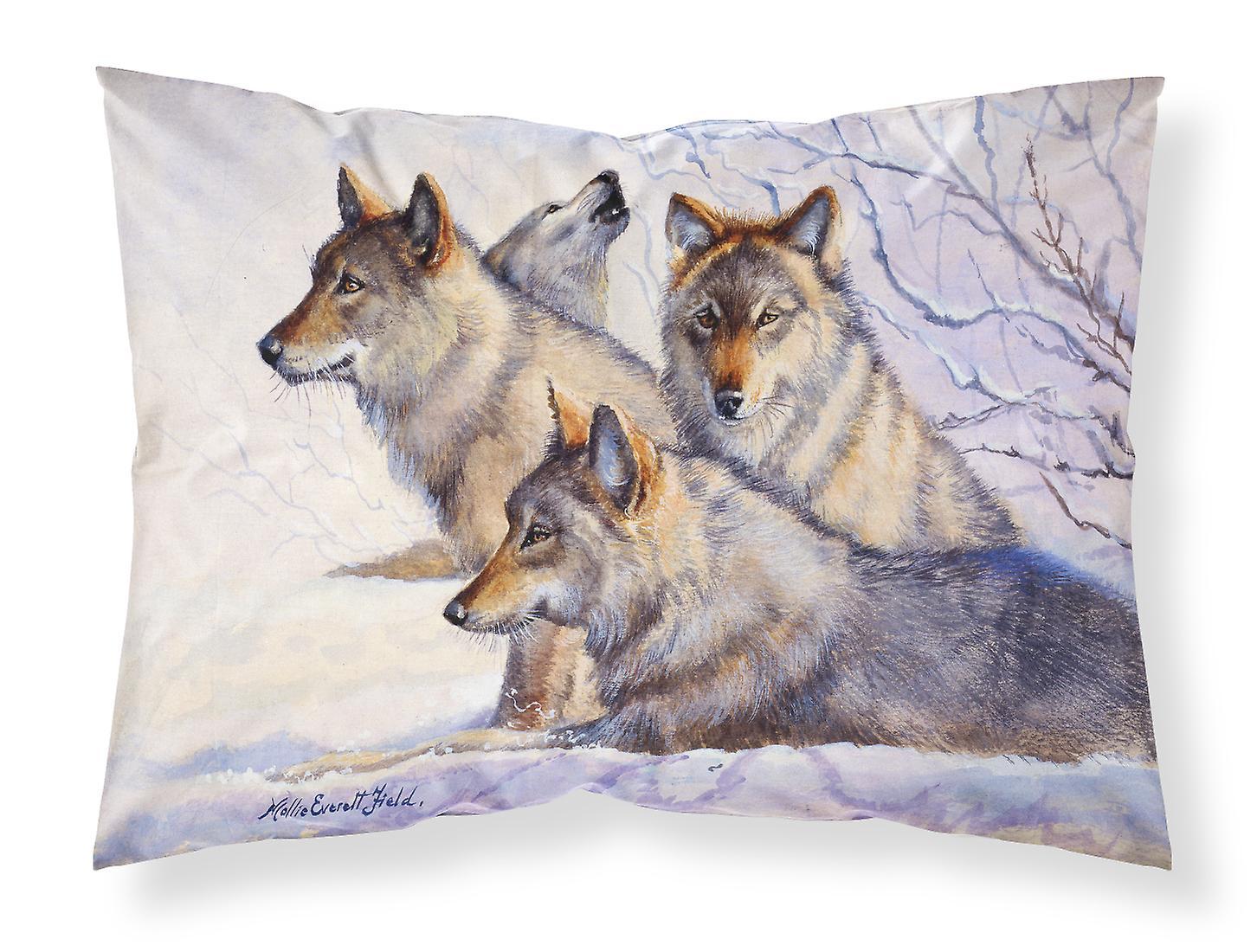 Loups Mollie Standard Taie D'oreiller Tissu De Champ RL354jA