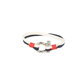 Baxter jewelry London bracelet nylon blue white red jewelry sporty Cap 20 cm