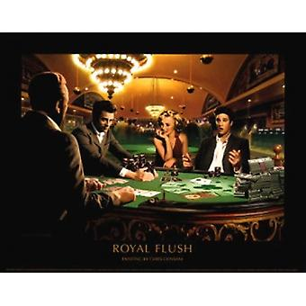 Royal Flush Poster Print by Chris Consani (14 x 11)