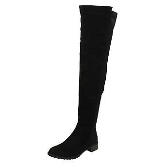 Ladies flekk på Over kneet støvler F50869