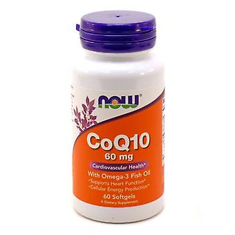 Now Foods Coenzyme Q 10 60 mg 60 Capsules (Vitamins & supplements , Multinutrients)
