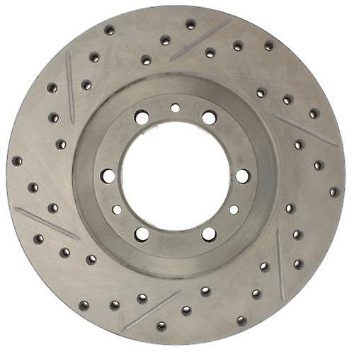 StopTech 227.43013R Select Sport Drilled and Slotted Brake rougeor; Front Right