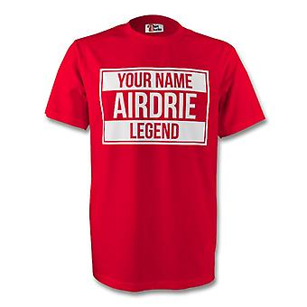 Ihr Name Airdrie Legende Tee (rot)