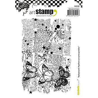 Carabelle Studio Cling Stamp A6-Background: Butterflies SA60286