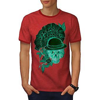 Red Skull Men Heather Red / RedRinger T-shirt | Wellcoda