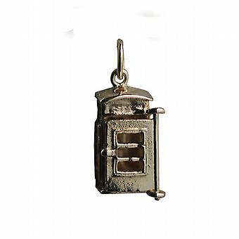9ct goud 18x8mm opening phonebox charme