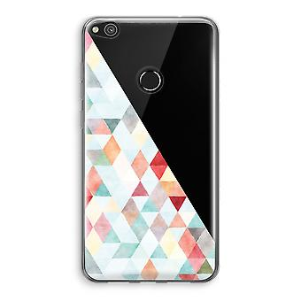 Huawei Ascend P8 Lite (2017) Transparant Case - Coloured triangles pastel