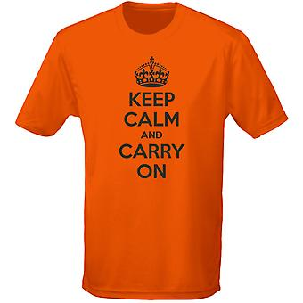 Keep Calm And Carry On Kids Unisex T-Shirt 8 Colours (XS-XL) by swagwear