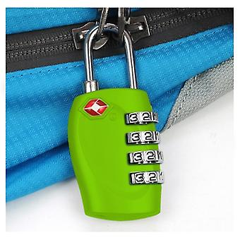 TRIXES 4-Dial TSA Combination Padlock for Luggage Suitcases and Travel Green