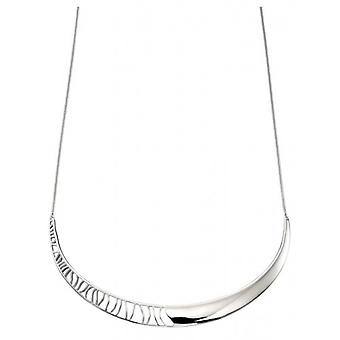 Elements Silver Half Cut Out Design Collar Necklace - Silver
