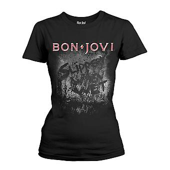 Bon Jovi Slippery When Wet Album  T-Shirt Girlie