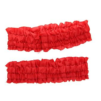 Adult Roaring 20s Garter Set or Old Time Armband Set Fancy Dress Accessory Red