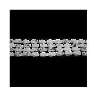 Nitką 20 + biały howlit 8 x 16 mm barwionego ryżu skręcone koraliki CB49110
