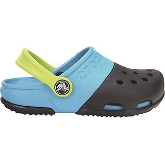 Crocs Boys Electro II Slip On Crosslite Slingback Clog Light Blue