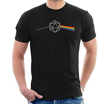 Dungeons And Dragons Dice Dark Side Of The Moon Men's T-Shirt