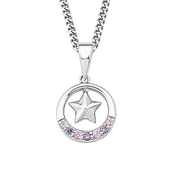 Princess Lillifee child kids necklace silver cubic zirconia star 2017948